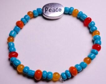 Stylish Peace Sign Bracelet