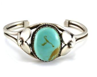 Turquoise Bracelet, VIntage Bracelet, Southwestern, Cuff Bracelet, Sterling Silver