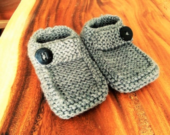 "Knitted handmade Style ""Loafer"" slippers"