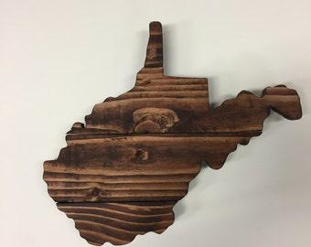 West Virginia State Sign, West Virginia Wood Sign, West Virginia State Wall Art, West Virginia Home Decor, West Virginia pallet sign