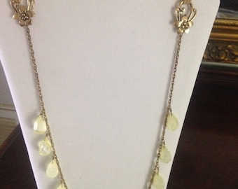 Matching Necklace and Earrings Set