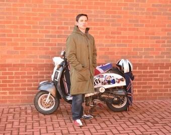 Mod 1960s parka jacket Calvin klein