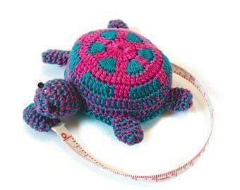 Crochet Turtle Tape Measure