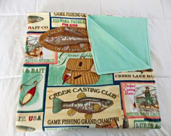 Fishing Fleece Blanket - Outdoors Fleece Blanket