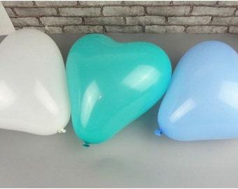 10 Pcs Heart Shaped Latex Balloons