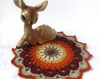 Crochet Mandala, Mandala, Crochet Doily, Doily, Crochet Placemat, Placemat, Crochet Table Mat, Table Mat, Medium Mandala, Medium Doily