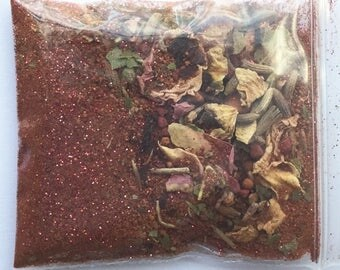LOVE Magic Dust- Dress candles, charm bags, etc for your romance and passion rituals wicca spell spirituality manifestation meditation pagan