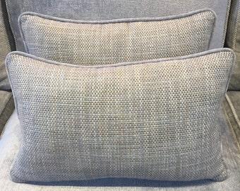 Ian Sanderson Umi fabric covered recatangular cushion