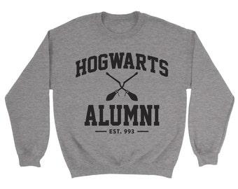 Hogwarts Alumni Sweatshirt- Quote Slogan Jumper Harry Potter Birthday Present Gift