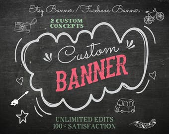 Etsy Banner, Facebook Banner, Etsy Profile pic , Facebook profile, Instagram Profile Pic, Brand Logo, Wallpaper, logo Design