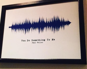 You Do Something To Me by Paul Weller - soundwave print