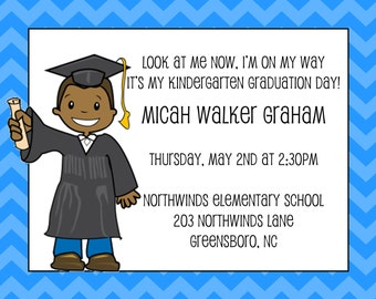 African American Graduation Announcement -Preschool | Preschool Graduation Announcement | Kindergarten Graduation | Kickoff to Kindergarten