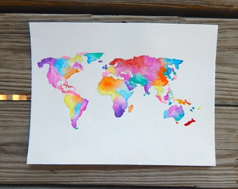 Colorful World Print