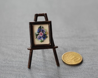 "Picture for a doll house ""Violets"" 13x18mm"