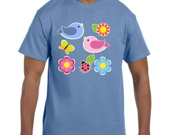 Tshirt Mother's Day Flowers Birds Design model xx10095