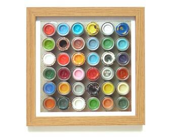 Paint Pots | Paint Tins Art Print | Framed Print | Collections Picture | Square Photographic Print | Nostalgia | Humbrol | Airfix Paints