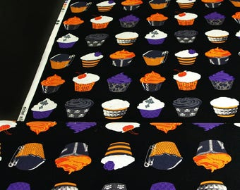 Cotton Gothic cupcake OUT OF PRINT black cake purple orange hobby patchwork soft muffin
