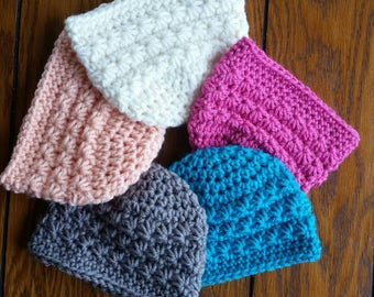 Crochet baby beanies, newborn  photography props, baby shower gift