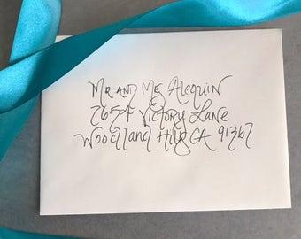 Address Envelopes,  Calligraphy Envelopes, Hand Written Evelopes, Calligraphy Envelopes, Save the Date Envelopes