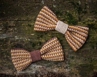 "Crocheted bow tie ""Straw #1"" , collection ""Straw"""
