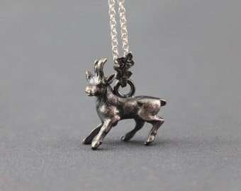 Trailer Ibex hunting Jewelry Sterling Silver gift animal forest Glade