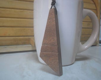 Abstract Wooden Pendant Necklace