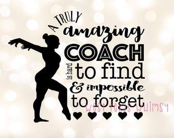 Gymnastics coach svg, gymnast svg, gymnastics silhouette, gymnastics coach gift, gymnast coach, scan n cut, cricut file, silhouette file