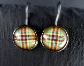 Earrings, earrings, earrings, diamonds, colorful, Cabochon, 1 pair,.