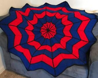 Spider Web Afghan Blanket