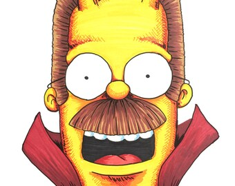 Devil Flanders - Simpsons Portrait
