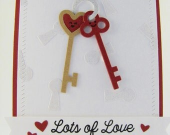 Love Card, I Love You Card, Valentine's Day Card, Valentine Day Card, Handmade Greeting Card, Key To My Heart Card,  My Favorite Things