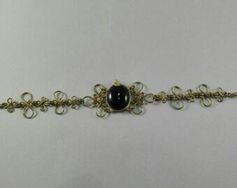 Brass Bracelet Amethyst