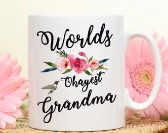 Worlds Okayest Grandma, Grandma Mug, Grandma Gift Mug, Gift Mug for Grandma, Gift for Grandma, Coffee Mug, Mug for grandma, grandma's gift