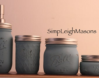 Soap Dispenser Mason Jar Set