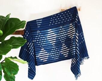 Eva | Indigo Pattern | Handmade African mud cloth