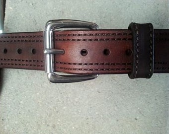 "Gun Belt 1 1/2"" wide Double Stitched"