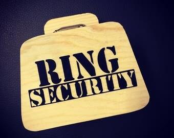 Wedding Ring Box, Ring Security Box, Mini Ring Case, Wedding Rings, Mini Briefcase Ring Box
