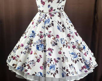 Rockabilly 50s prom swing dress dress