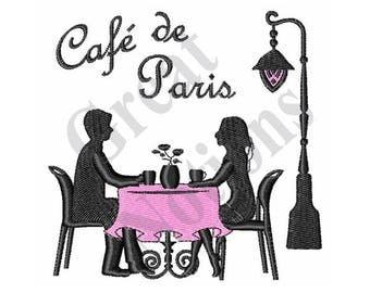 Cafe De Paris - Machine Embroidery Design