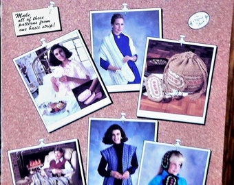1991 Annie's Attic Crochet Mile-A-Minute MENAGERIE..306a..  6 DIFFERENT PATTERNS