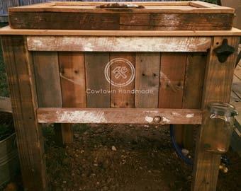 Reclaimed Wood Outdoor Patio Cooler