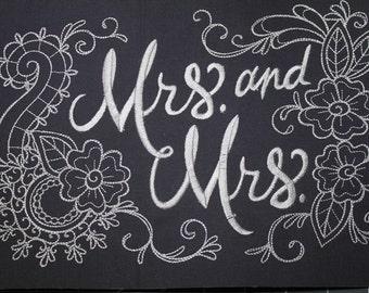 Wedding Sayings - Mrs & Mrs