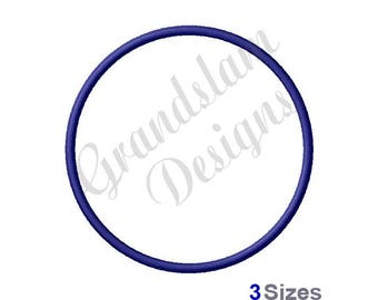 Circle (Outline) - Machine Embroidery Design