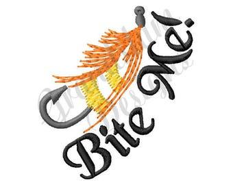 Bite Me Fishing Bait - Machine Embroidery Design