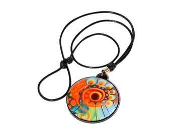 Hand Made colorful Mandala Maxi Necklace