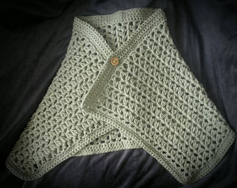 Crochet Toddler Sweater Wrap