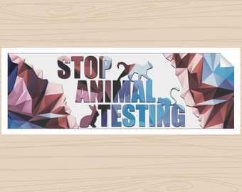 Stop Animal Testing (Bumper Sticker)
