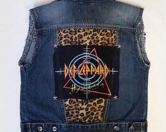 TODDLERS Def Leppard denim rock vest -size 3T