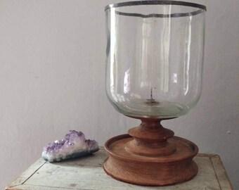 Vintage hurricane candle holder