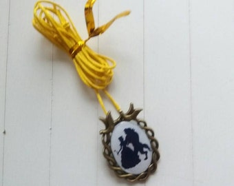 Beauty and the Beast inspired silhouette neckless